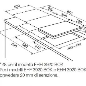 Piano cottura EGC3322NVK