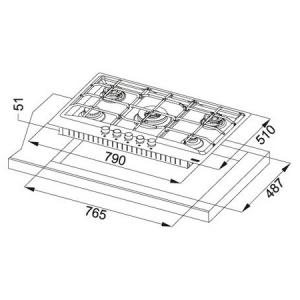 Piano cottura FHNE 805 4G TC XS C