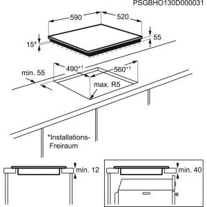 Piano cottura EHI6540F8K